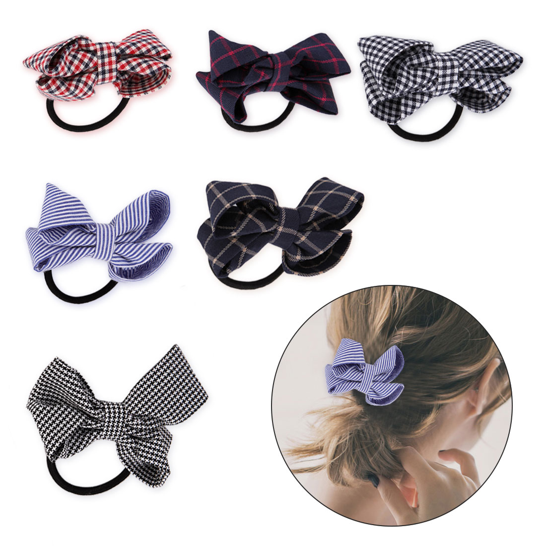 Objective 1pc Elastic Hair Bands Bands Women Hair Accessories Long Ribbon Rubber Rope Scrunchy Bow Hair Apparel Accessories