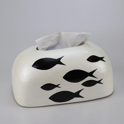 Скандинавская креативная ручная роспись коробка из керамической ткани персонализированное украшение для дома журнальный столик гостиная столовая хранение салфеток - Цвет: C