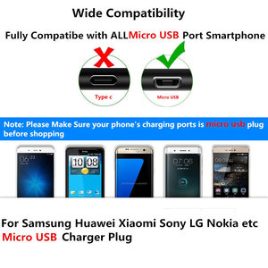 Image 5 - Travel Charger For Huawei Honor 7a pro 10i 8A 8C 8X Y7 2019 Micro Usb for Samsung Galaxy S6 S7 Edge A3 A5 A7 J3 J5 J7 2016 Cable