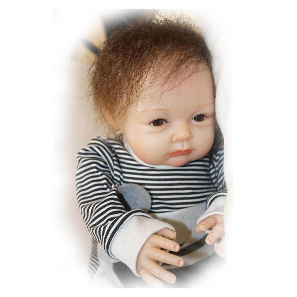 55 cm Silicone souple reborn bébé garçon poupée jouet lol réaliste mignon garçon nouveau-né bebe reborn bonecas mode anniversaire surprise cadeau - 3