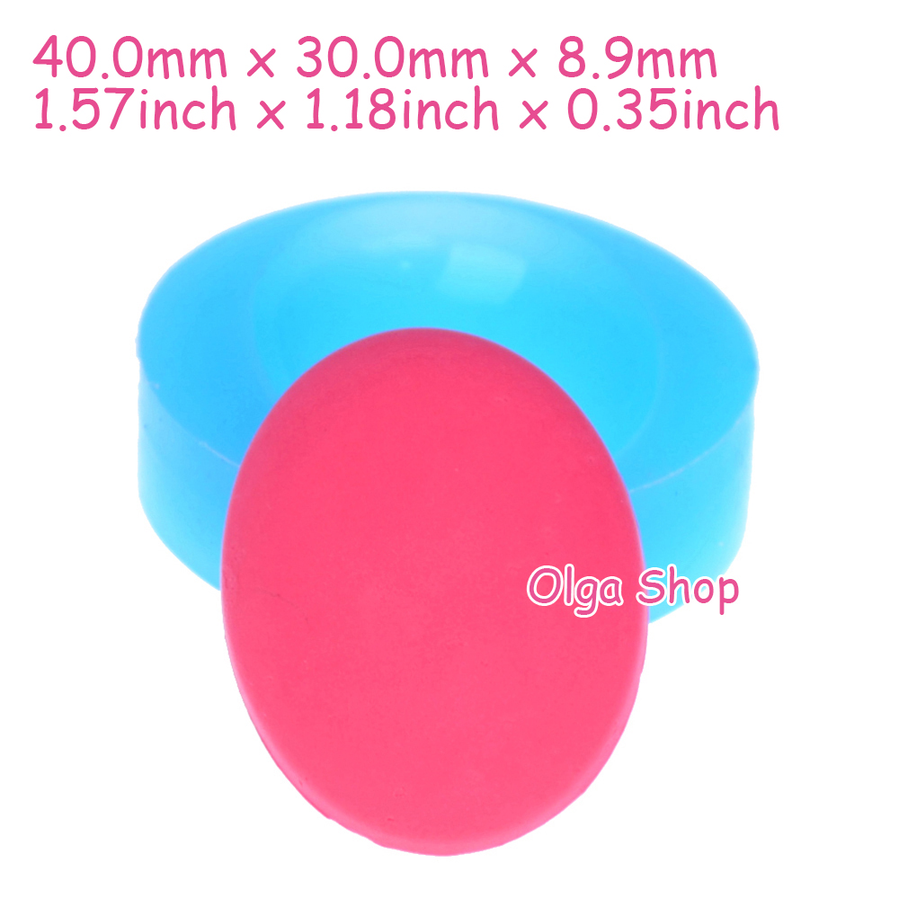 Cake Decorating Push Mold : BYL005 40mm Oval Silicone Mold Jewellery Flexible Push ...