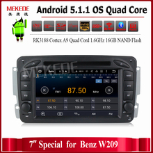 1024 600 HD screen Android5 11 car Multimedia player for Benz W203 W208 W209 W210 W463