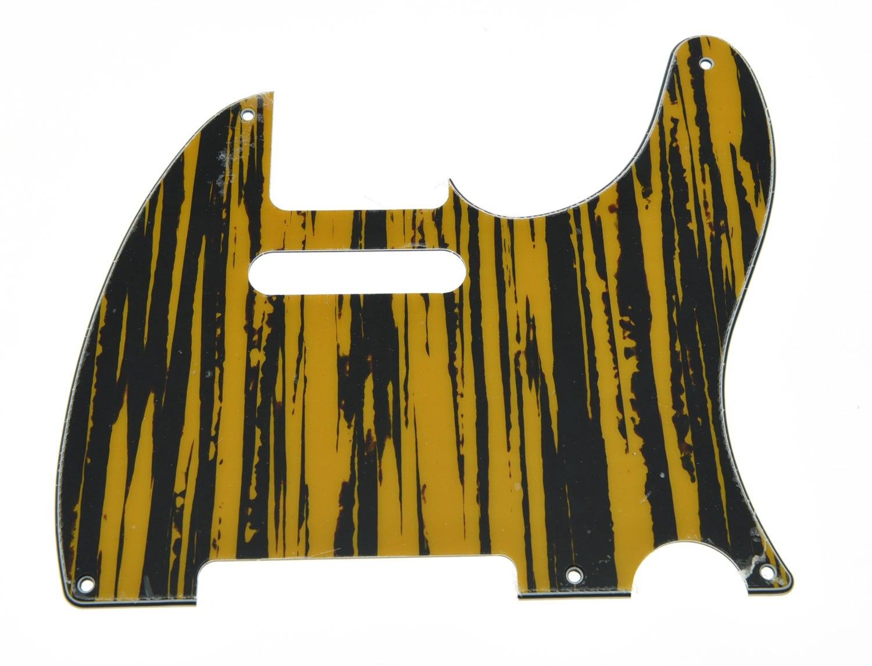 KAISH Vintage 5 Hole TL Style Guitar Pick Guard Tawny Stripe Fits TL