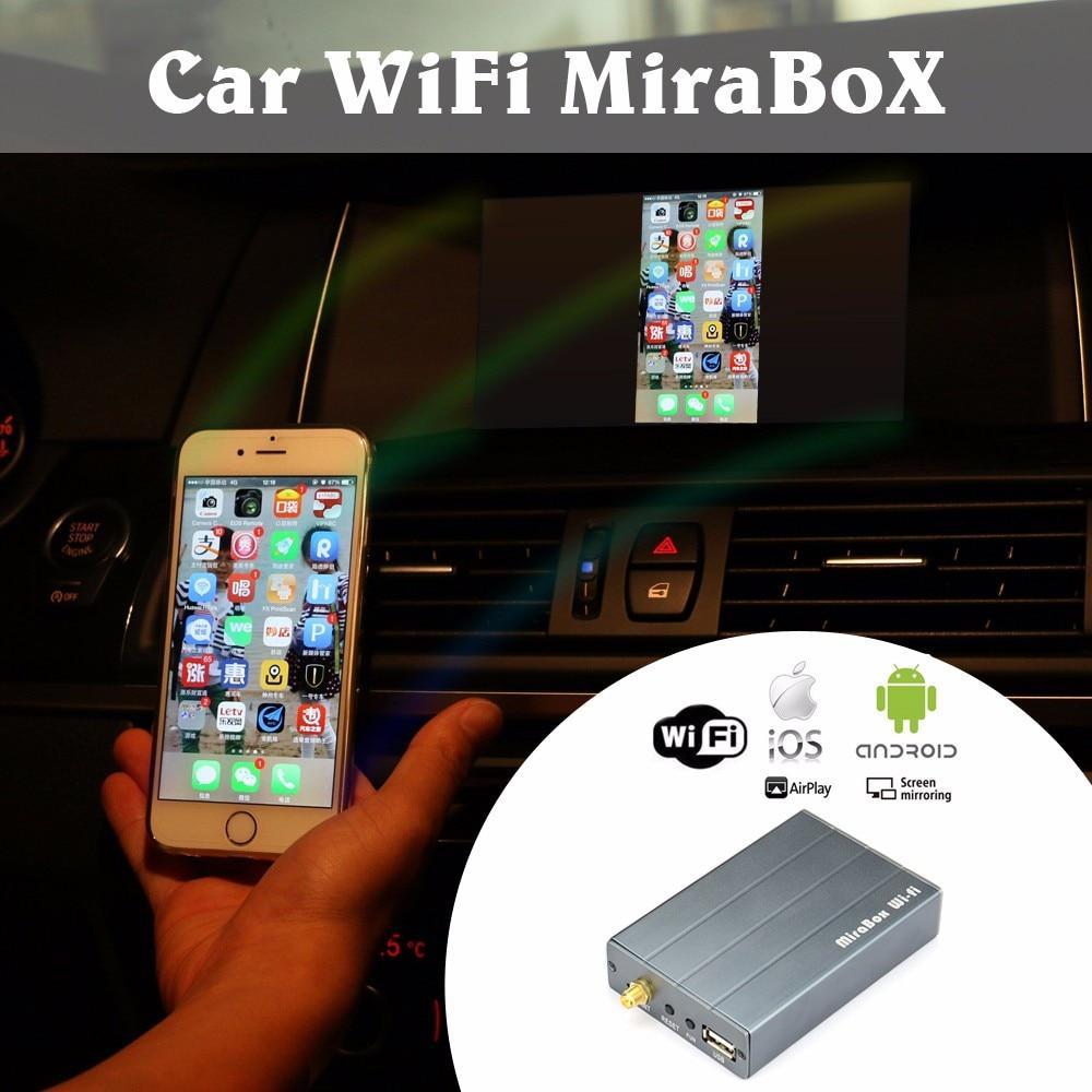MiraBox 5.8G/2.4G voiture WiFi nouveau! Mirrorlink Box pour iOS12 et téléphone Android pour YouTube Mirroring/DLNA/Miracast/Airplay sans fil