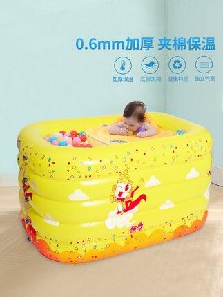 Bébé piscine gonflable épaississement isolation famille avec jeunes enfants bébé pataugeoire enfants piscine de boule marine
