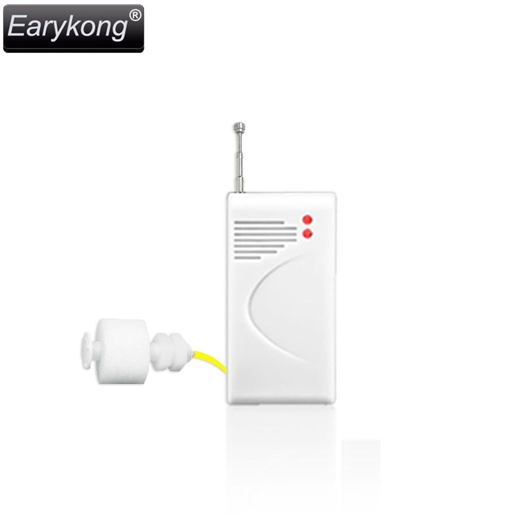 433MHz Wireless Water level detector Sensor, For PSTN GSM Alarm System for GSM Home Burglar Security Alarm System, Free Shipping wireless vibration break breakage glass sensor detector 433mhz for alarm system