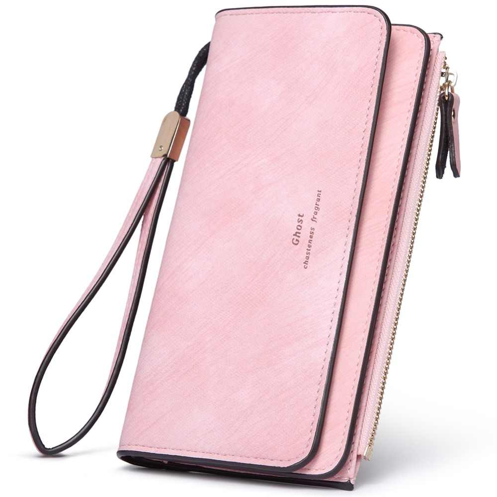 ecfa8a4453be46 BOSTANTEN Women Wallet Brand Designer Tassel Envelope Pink Leather Female  Wallets Ladies Purse Long Card Holder