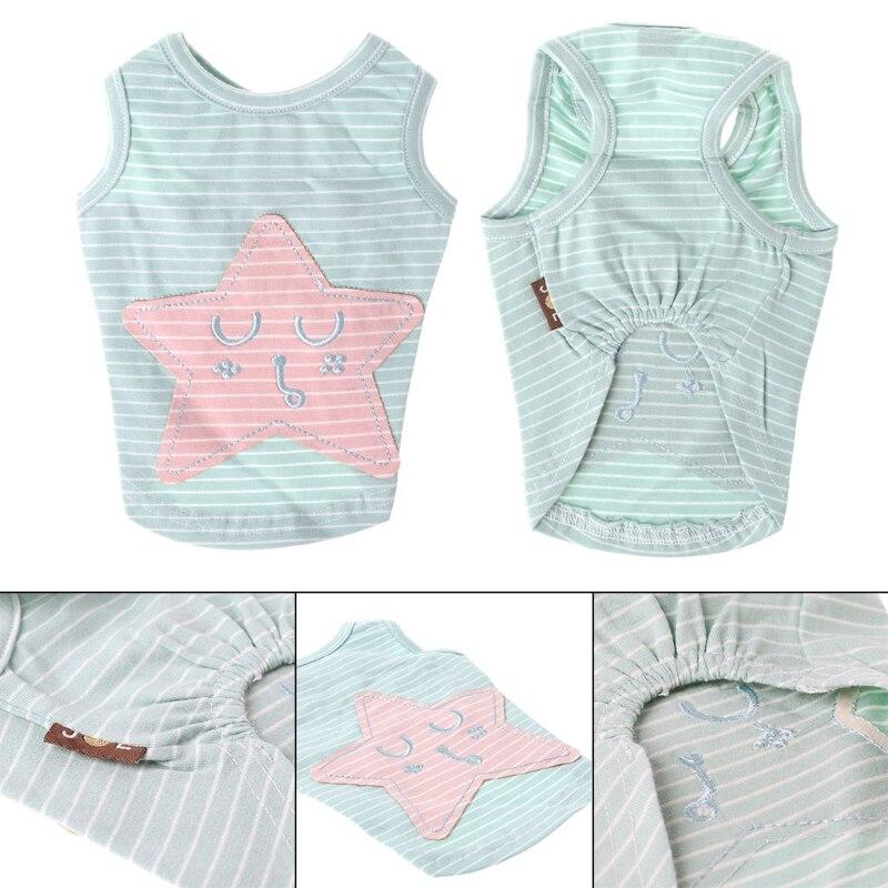 Pet Dog Clothes T-shirt Summer Puppy Cat Dog Vest Pet Cotton Shirt Soft Clothes
