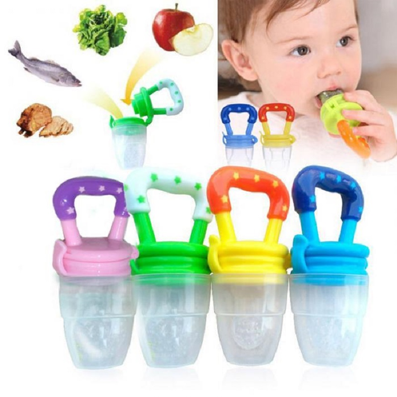 Newborn Baby Pacifier Feeding Soother Nipples Toys Baby Soft Bite Feeding Tool Toy   Month Infant Fruit Rattle