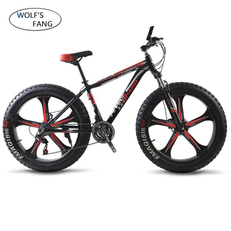 Mountain Bike 24 Velocità della bicicletta Cross-country Telaio In Alluminio 26x4.0 Grasso bici Neve biciclette da strada Molla della Forcella unisex In Lega di Alluminio