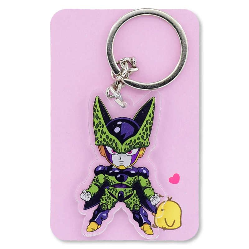 Dragon Ball Z GT двусторонняя ясно брелок Goku/Сотовый Супер Saiyan брелок Лидер продаж на заказ Аниме Ключ кольцо PCB155-161
