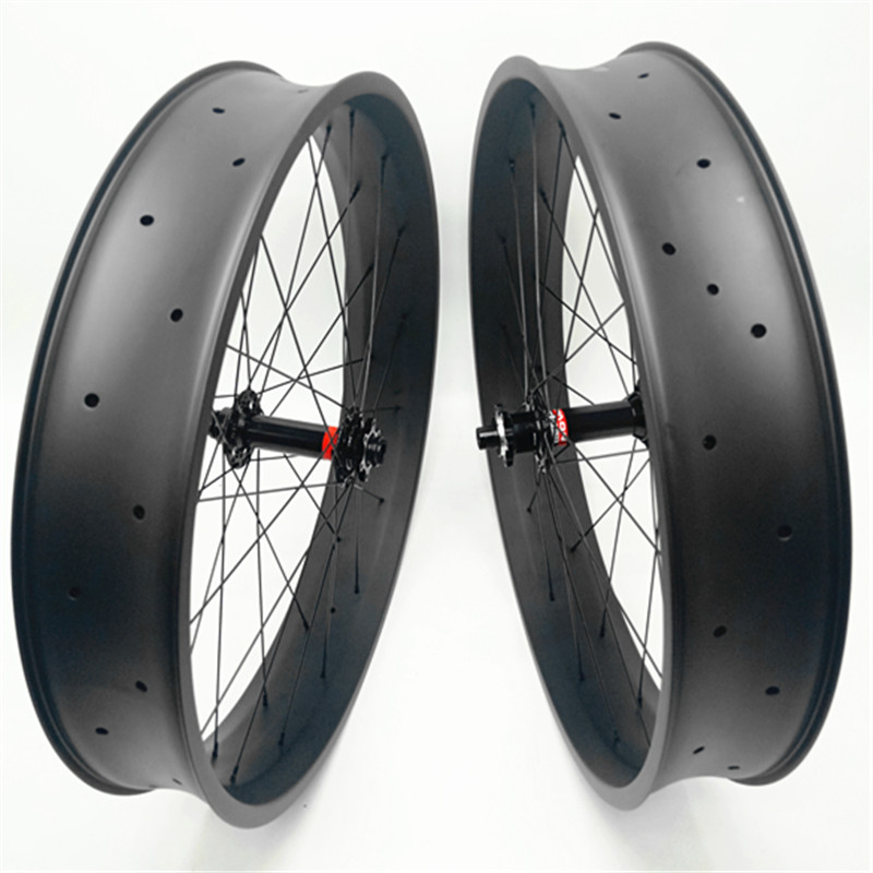 2750g carbon fat wheels 100mm 26er UD 3K MATTE glossy fat bike disc wheels 150 135