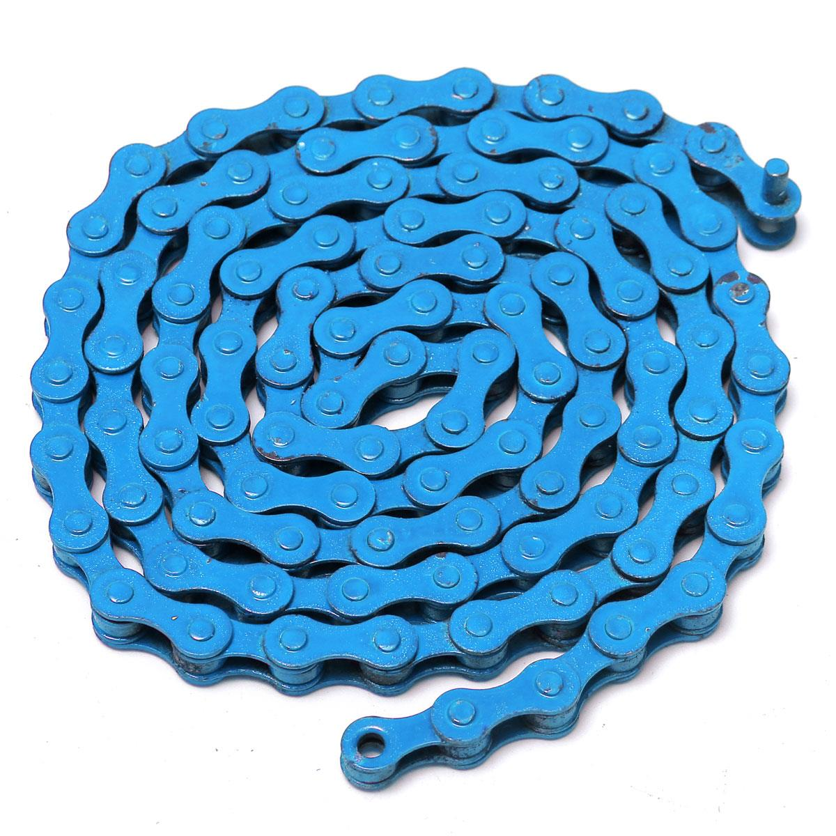 New YBN Single Speed Color Chain for Track Fixie Fixed Gear Bicycle Bike Blue