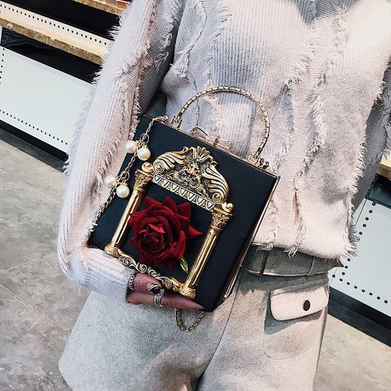 FUNMARDI тисненая Цветочная женская сумка с жемчужной цепочкой женская сумка на плечо из искусственной кожи женская сумка женские сумки через плечо WLHB3026