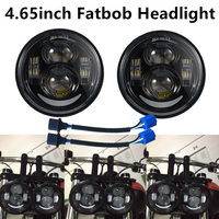 4.65 Black Chrome Motorcycle LED Headlight H4 to H13 Hi/low beam and DRL Headlamp For Harley Davidson Fat Bob FXDF 2008 2016