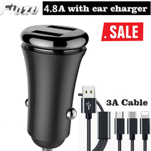 Fiuzd 4.8A USB car charger for redmi k20 pro note 7 usb xiaomi mi 9 se 9t Mobile phone adapter