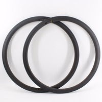 2Pcs New 700C 38mm Road Bike Matt Full Carbon Bicycle Wheels Clincher Rim With Basalt Brake