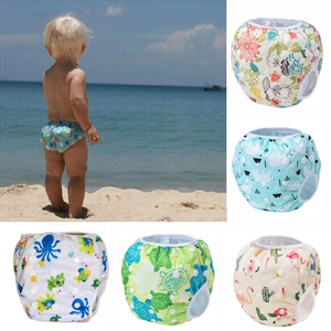 Swim Diaper wear Leakproof Reusable Adjustable for infant boy girl toddler 2 4 5 6 7 8 9 10 12 11 month baby swimwear pool pant(China)