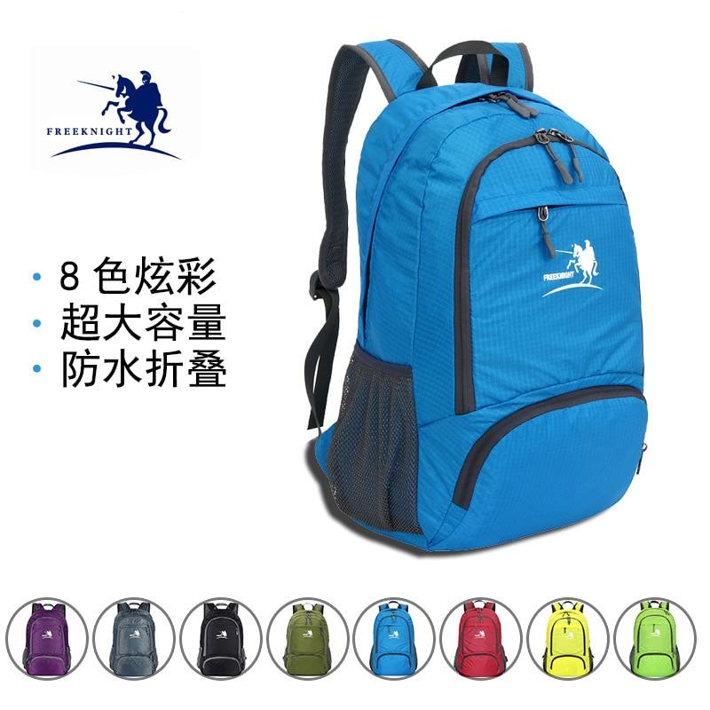 ad0addc733dc Free Knight 35L Ultra Light Folding Backpack Schoolbag Women Men Waterproof  Nylon Bag Camping Hiking Travel Sport Bag Backpack