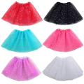 Fashion Kid Girls Sequins Tutu Pettiskirt 3 Layers Chiffon Skirt Baby Tulle Tutu Skirt Ballet Dance Wear Girl Bubble Costume