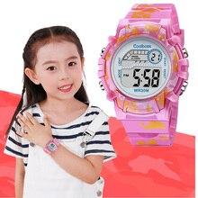 COOLBOSS 2019 Fashion Electronic Sport Children Watch Cute Kids Watches Boys Girls Clock LED Digital Wristwatch for Boy Girl