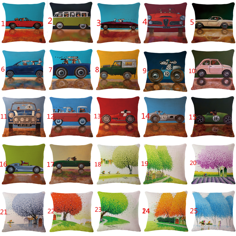 32 Styles Dogs Driving Cars Bus Truck Dog Driver Pillow Decorative Sofa cushion cove Vietnam little fresh
