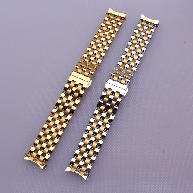 Venda de Reloj correas de reloj de acero inoxidable Correa de Reloj de Pulsera de lujo metal 16mm18mm20mm22mm24mm Oro PLATA PARA HOMBRES HORAS NEW