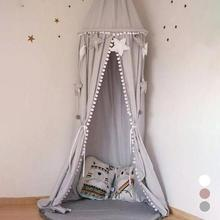 Cotton Crib Tent Baby Room Decoration Balls Mosquito Net Kids Bed Curtain Tent Photography Props Baldachin Baby Baldachin A25 недорого