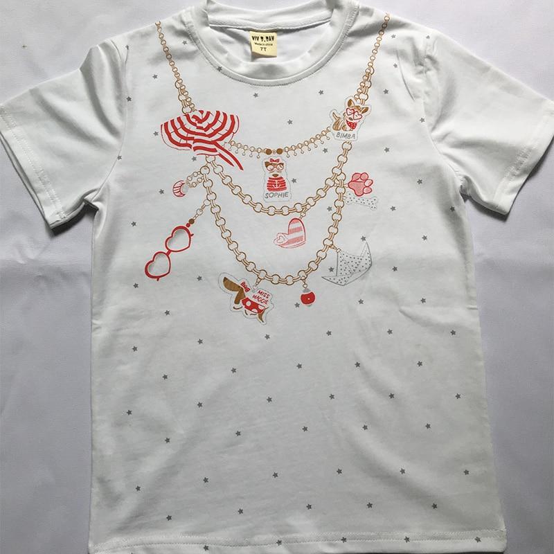 Naszyjnik z nadrukiem Girls Tee Shirt z filconem Garcon Bling Girls - Ubrania dziecięce - Zdjęcie 3