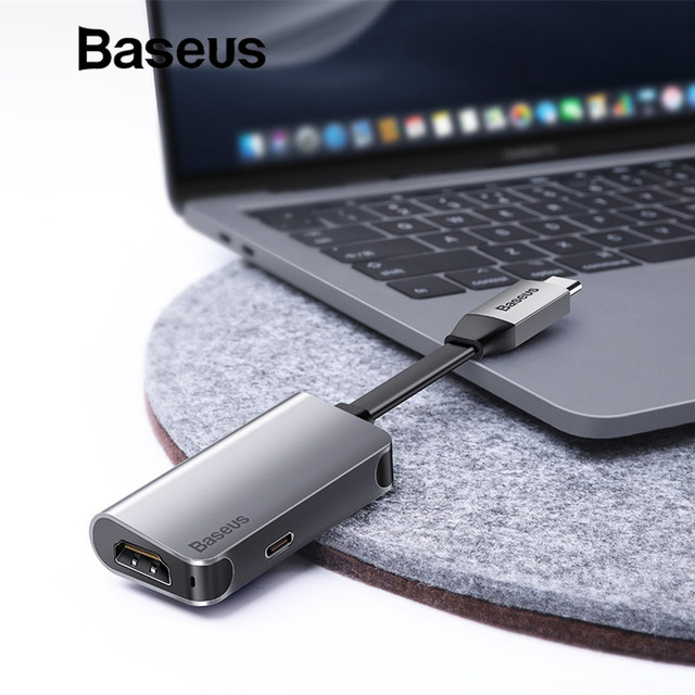 Baseus 2in1 USB Type C 3.0 HUB for Type C to 4K HDMI + Type C PD 60W Flash Charger OTG HUB Converter