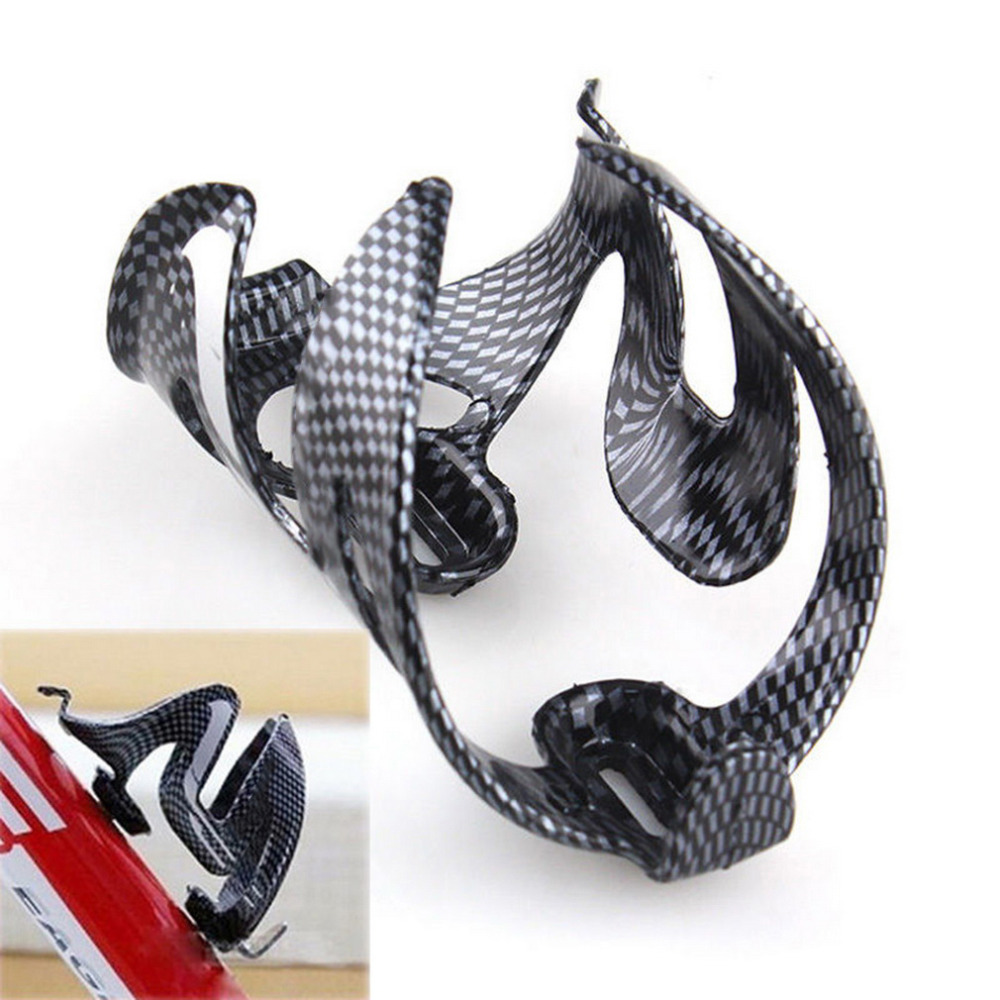 Carbon Fiber Cycling Bike Bicycle Drink Water Bottle Holder Cage Rage Rack Blac