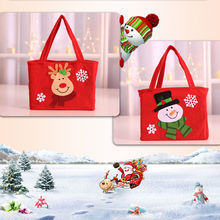 Cute Santa Claus Snowman Candy Gift Bags Cookie Packaging Bags Party Handbag Merry Christmas Storage Package