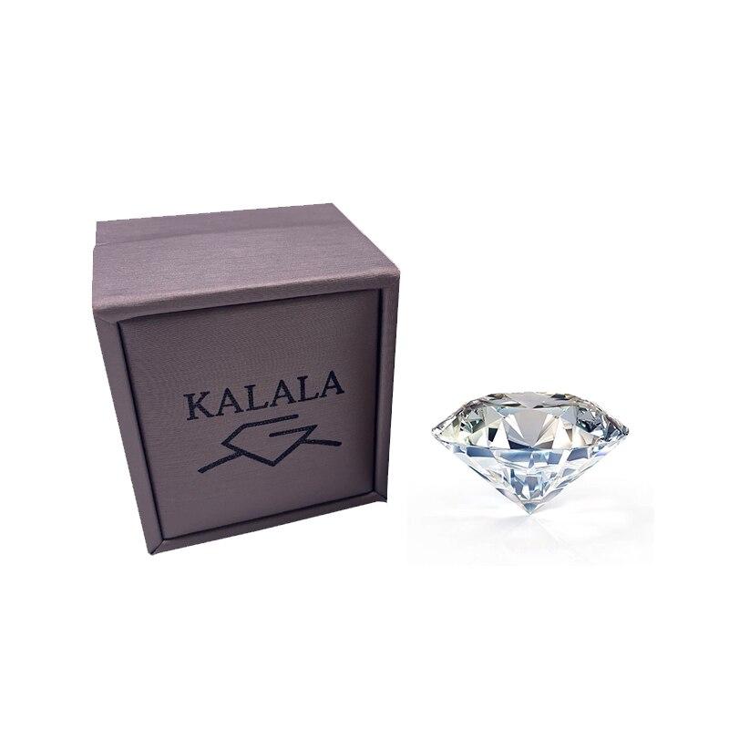 Corte brillante redondo 6,5 quilates mm E F Color moissanitas piedra suelta diamante anillo joyería material de la pulsera de alta calidad