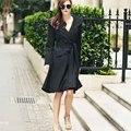 Brand Design Winter Coat Women Warm Wool Coat Long Women's Cashmere Coat With Cashes European Fashion Jacket Outwear Black