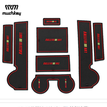 Car-styling case For Mitsubishi Lancer EX Sport 2008-2015 Car Non-Slip Interior cup cushion Door Mat for car accessories