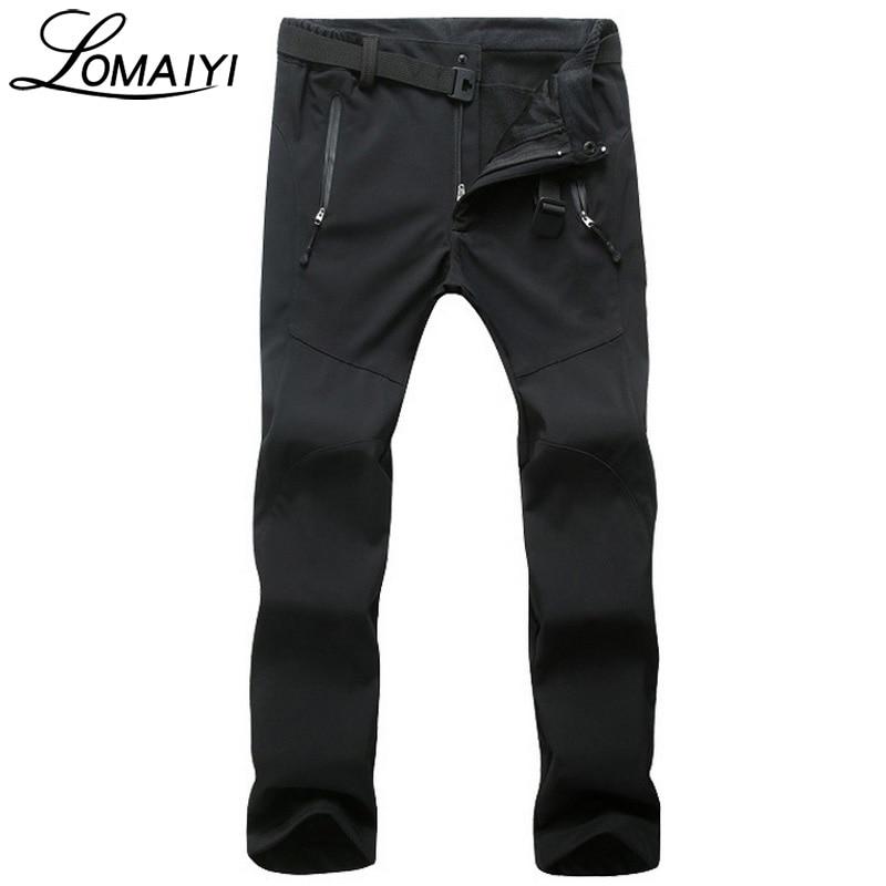 LOMAIYI Women's Casual Pants Women Winter Warm Fleece Trousers Ladies Black Bottom Russia Snow Windproof Sweatpants Pants,AW030