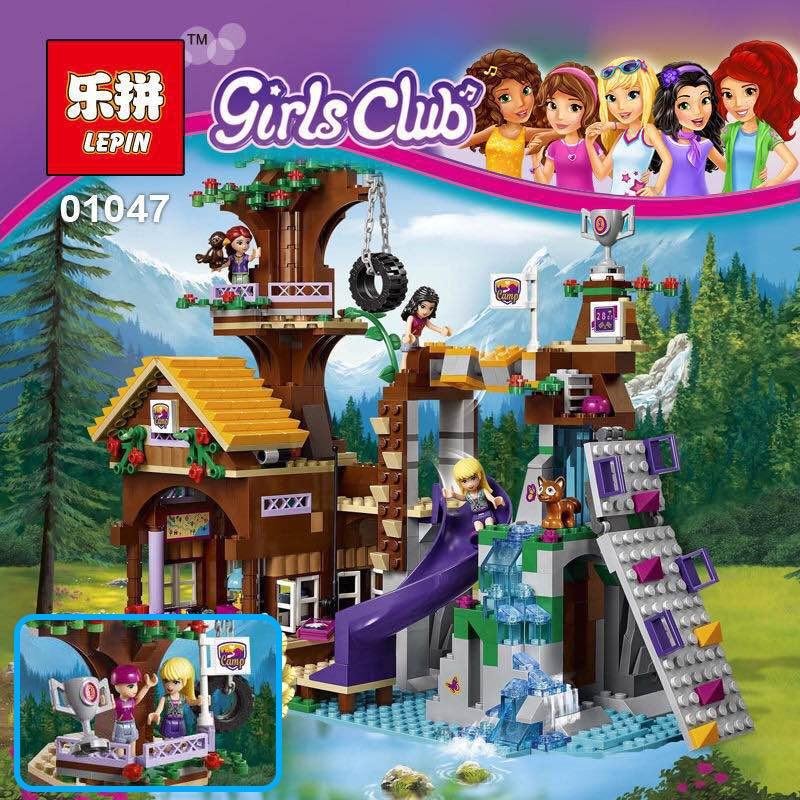 ФОТО Lepin 01047 784Pcs Girls Series The Adventure Camp Tree House Fun Children Educational Building Blocks Bricks Toys Gift 41122