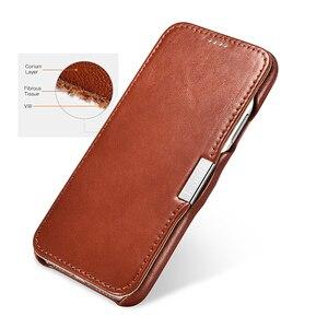 Image 2 - Icarer Genuine Leather Case for iPhone 12 Mini 11 Pro Max 6 7 8 Plus X XR XS Magnetic Closure Luxury Retro Slim Flip Phone Cover