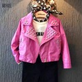 New Autumn Winter  Leather Jacket Girls  Fashion  Jacket Kids Doudoune Enfants Girls Jacket BC016