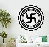 Buddha Ganesha Vinyl Wall Deca Buddha Spiritual Swastika Lotus Buddhism Yoga Mural Wall sticker Bedroom Decorative Decoration