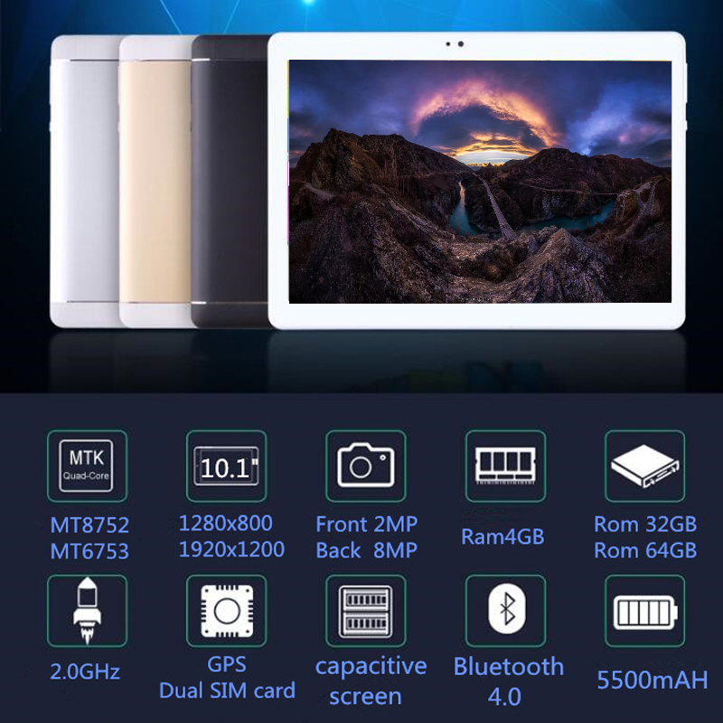 2019 NEW Pocket PC S109 10.1 Inch Tablet PC Octa Core Android 8.0 4GB RAM 32GB 64GB ROM 8 Core 10 10.1 Resolution 1280x800