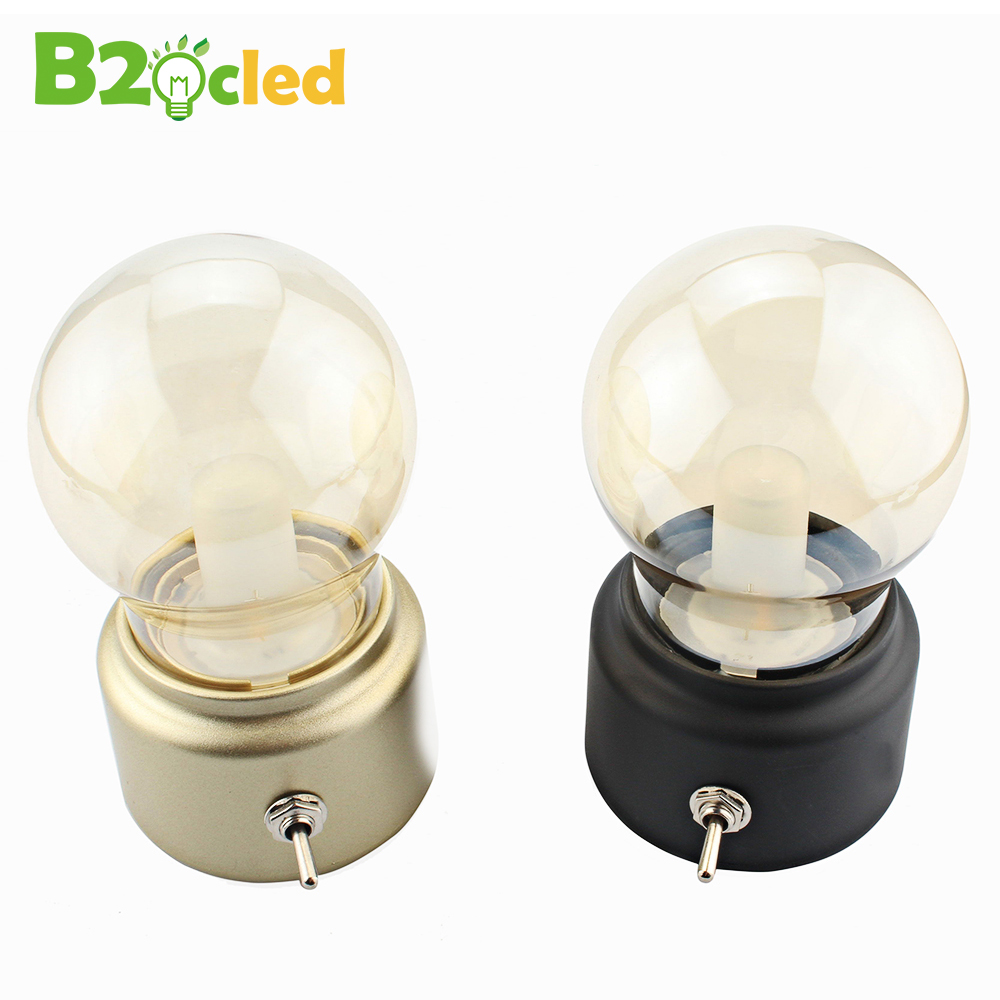 Retro Usb Bulb Lamp Bulb Rechargeable Battery Charging Night Light Led Energy Saving Light