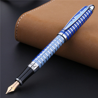Pimio PS81 Flower Circle 10K Gold Pen Financial Special Pen Fountain Gift Ink Pen