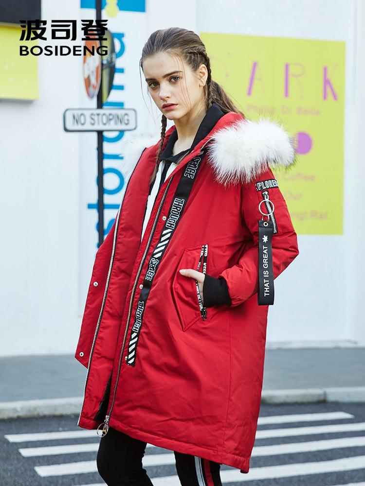 Kadın Giyim'ten Şişme Montlar'de BOSIDENG kış kadın aşağı ceket x uzun uzun kaban alt havalandırma MUSLUKLAR şapka ayrılabilir gerçek kürk kalınlaşmak GEVŞEK Uzun parka b70142528'da  Grup 1