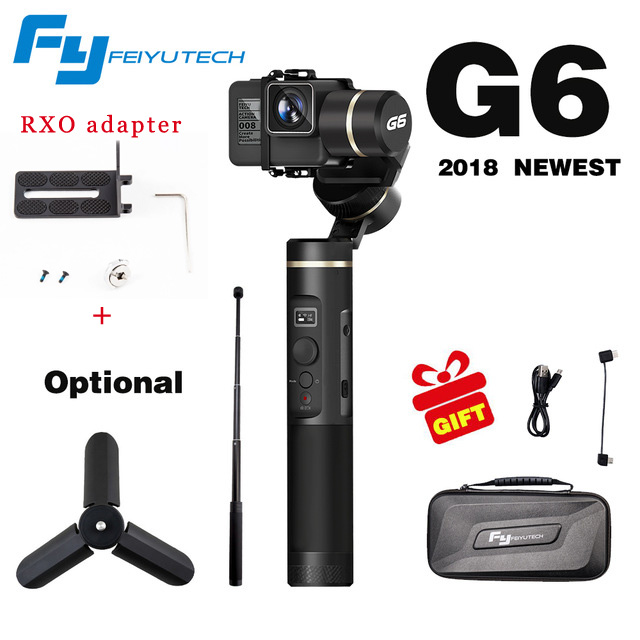 Feiyutech Feiyu G6 Handheld 3-axis Brushless Gimbal for gopro hero 3/4/5 6 RX0 Stabilizer for Xiaoyi 4K AEE Action Cameras wewow sport x1 handheld gimbal stabilizer 1 axis for gopro hreo 3 3 4 smartphone iphone 7 plus yi 4k sjcam aee action camera