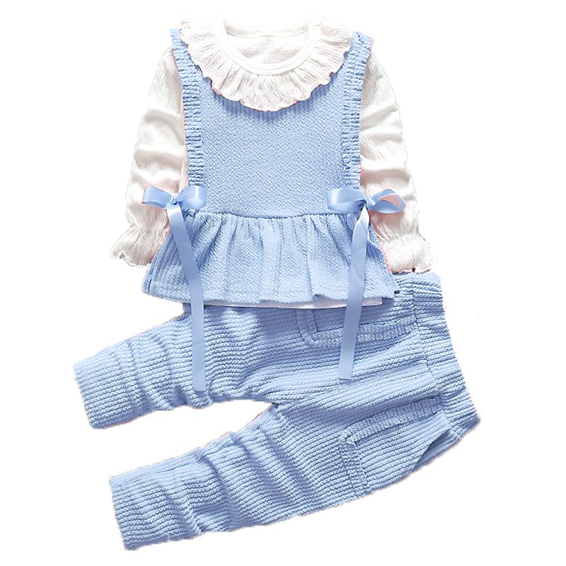 2021 Baby Girls Clothes Sets Children Clothing Toddler Girl Tracksuits Sport Suit Kids T-shirt +Vest Pullover And Pants Set 3Pcs 2