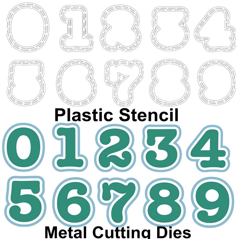0 9 Numbers Metal Cutting Dies Plastic Stencil DIY Card Album Making Scrapbooking Template Stencil Crafts Decor New Dies 2019 in Cutting Dies from Home Garden