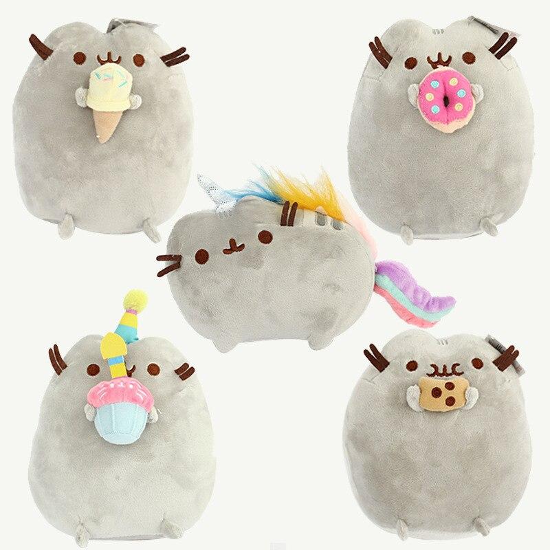 Новый Дизайн мультфильм Kawaii Brinquedos детские игрушки Pusheen комфорт кошка погремушки, игрушки для малышей Superise подарки ...