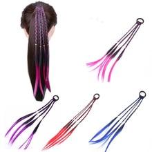 Get more info on the Cool Simple Kid Elastic Hair Band Rubber Band Hair Accessories Kids Wig Headband Girls Twist Braid Rope Headdress Hair Braider