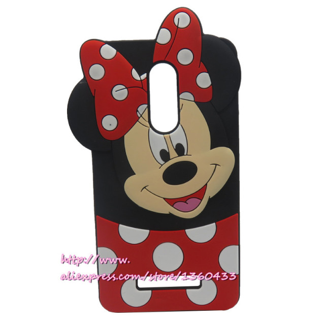 For xiaomi redmi note 3 case 3d cartoon minnie mouse soft silicone cell phone back cover